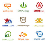 Company Logo's. Company logo set, company identity pack Royalty Free Stock Photos