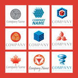 Company logo set. A set of company logos isolated on white Royalty Free Stock Photo