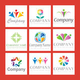 Company logo set. A company logo set with people Royalty Free Stock Photos