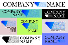 Company logo set Royalty Free Stock Photo