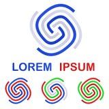 Company logo symbol design template set. Company identity logo symbol design template set Royalty Free Stock Photos