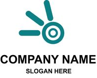 Company logo template with name. And slogan. modern and flat style logo vector illustration