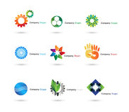 Company logos. Several logo elements, which can be used as your company logo vector illustration