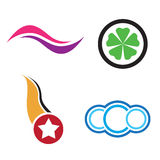 Company logos. Several logos you can use for a company logo Stock Photos