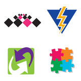 Company logos. Several logos you can use as a company logo Stock Image