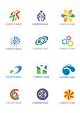 Company_logos. Several logos you can use as a company logo. Vector illustration Stock Photos