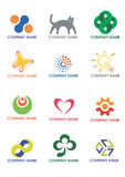 Company_logos. Several logos you can use as a company logo. Vector illustration Royalty Free Stock Photo