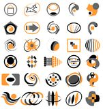 Company logos. Abstract company logo set vector stock illustration