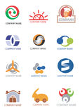 Company_logos_design_elements. Several logos for use on a company logo. Vector illustration Royalty Free Stock Images