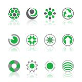Company logos green Stock Photo
