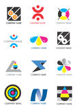 Company_logos_print. Several logos for use on a company logo. Vector illustration Royalty Free Stock Image