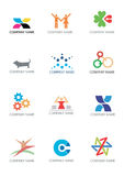 Company_logos_symbols. Several logos for use on a company logo. Vector illustration Stock Photos