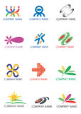 Company_logos_symbols. Several symbols for use on a company logo. Vector illustration Royalty Free Stock Photography