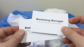 Company looking for Financial Consultant. Staff Selection. Cutting staff and employee Job Reduction. stock video footage