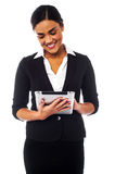 Company manager browsing on tablet pc Stock Photos