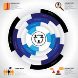 Company, manpower, employment & job related infographics vector Royalty Free Stock Images