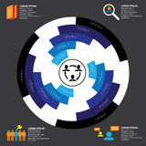 Company, manpower, employment & job related infographics vector. Stock Photos