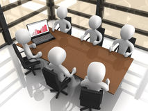Company Meeting. Computer Generated Image - Comapny Meeting Stock Photos