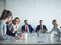 Company Meeting in Conference Room Royalty Free Stock Photos