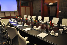 Company meeting room. A luxury company meeting room with modern fitments Royalty Free Stock Image