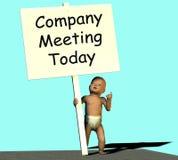 Company meeting today Stock Photo