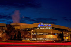 Company Micron Technology at night Stock Photography