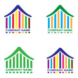 Company name. Four colorful home logo on your company name royalty free illustration