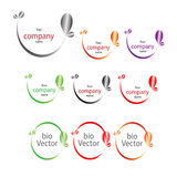 Company name, bio icon. Graphic design element Stock Photography