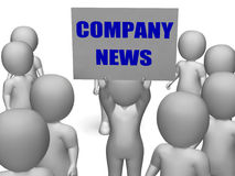 Company News Board Character Means Corporate Royalty Free Stock Images