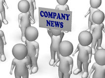 Company News Board Character Shows Corporate Stock Image