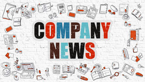 Company News Concept with Doodle Design Icons. Royalty Free Stock Photos