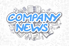 Company News - Doodle Blue Word. Business Concept. Royalty Free Stock Photography