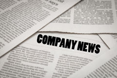 Company news headline Stock Images