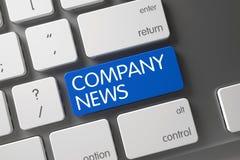 Company News Keypad. 3D Illustration. Stock Photography