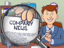 Company News through Lens. Doodle Concept. Royalty Free Stock Image