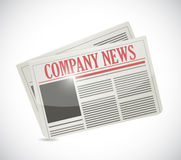 Company news. newspaper illustration Stock Photo