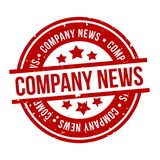 Company News red Grunge Stamp. Eps10 Vector Badge stock illustration