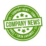 Company News Stamp. Eps10 Vector Badge vector illustration