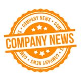 Company News Stamp.Yellow colored Eps10 Vector Badge stock illustration