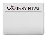 Company news title on newspaper Stock Photo