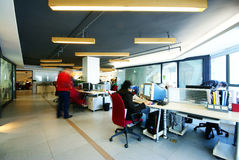 Company Office. Beijing, China, a busy modern office Royalty Free Stock Photography
