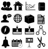Company office icons set Stock Image