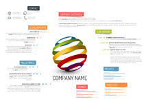 Company overview template Royalty Free Stock Photography