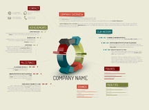 Company overview template Stock Photography