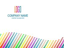 Company page. Company page with multicolored perspective and logo space Stock Photo