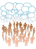 Company people group talk network social media Stock Photos