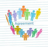 Company people meet consensus agreement contract Stock Photography