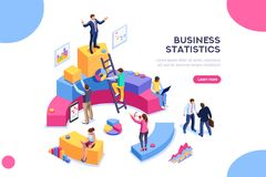 Company Performance Analysis Financial Administration Concept. Financial administration concept. Consulting for company performance, analysis concept. Statistics vector illustration