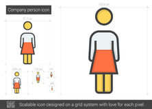 Company person line icon. Company person vector line icon isolated on white background. Company person line icon for infographic, website or app. Scalable icon Stock Photos