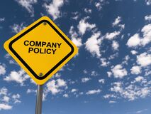Free Company Policy Traffic Sign Stock Photo - 211006150